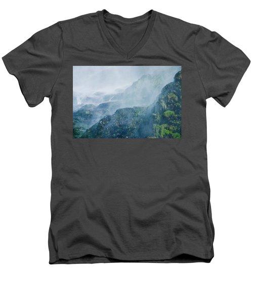 Below Wallace Falls Men's V-Neck T-Shirt