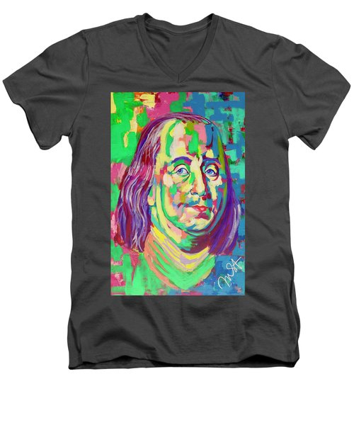 Ben Franklin Men's V-Neck T-Shirt