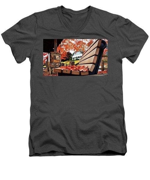 Bench Leaves Men's V-Neck T-Shirt