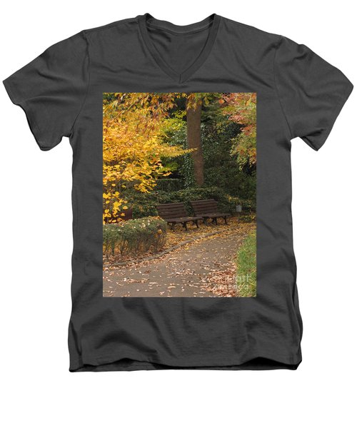 Benches In The Park Men's V-Neck T-Shirt