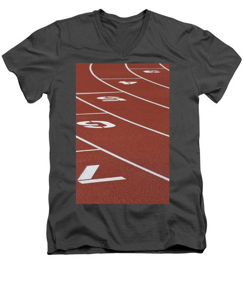 Men's V-Neck T-Shirt featuring the photograph Bending Reality by Laddie Halupa
