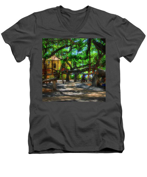 Beneath The Banyan Tree Men's V-Neck T-Shirt