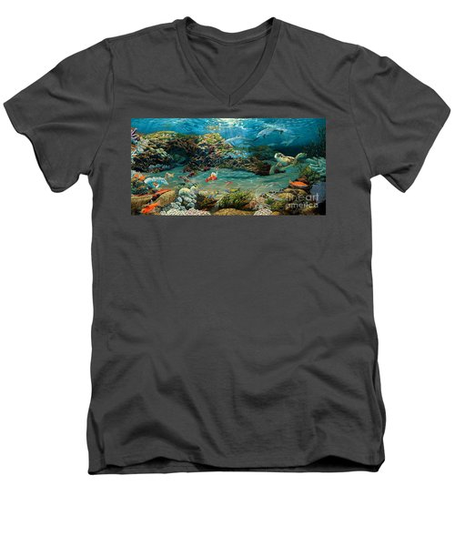 Beneath The Sea Men's V-Neck T-Shirt by Ruanna Sion Shadd a'Dann'l Yoder