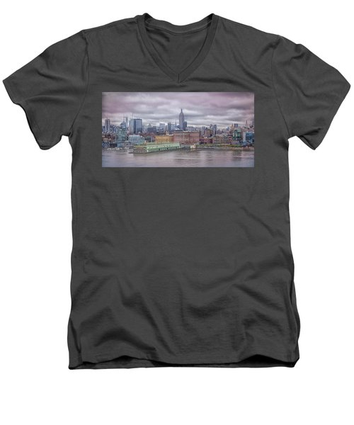 Beneath The Stormy Morning Men's V-Neck T-Shirt