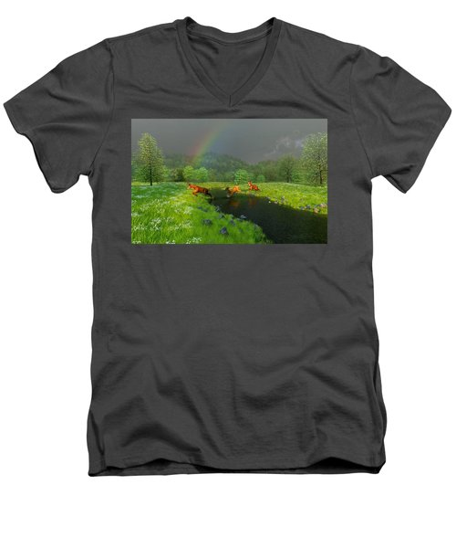 Beneath The Waning Mist Men's V-Neck T-Shirt