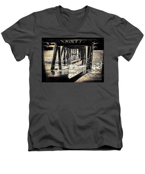 Beneath Men's V-Neck T-Shirt by William Wyckoff
