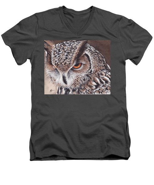Bengal Eagle Owl Men's V-Neck T-Shirt