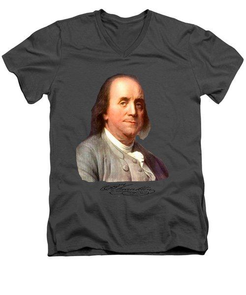 Benjamin Franklin Men's V-Neck T-Shirt