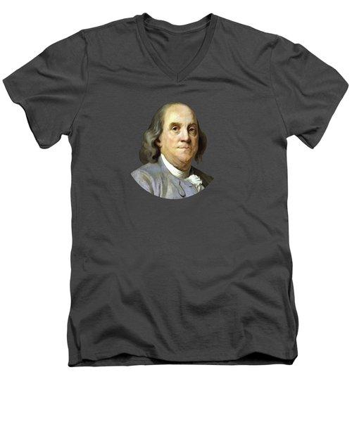 Benjamin Franklin Men's V-Neck T-Shirt by War Is Hell Store