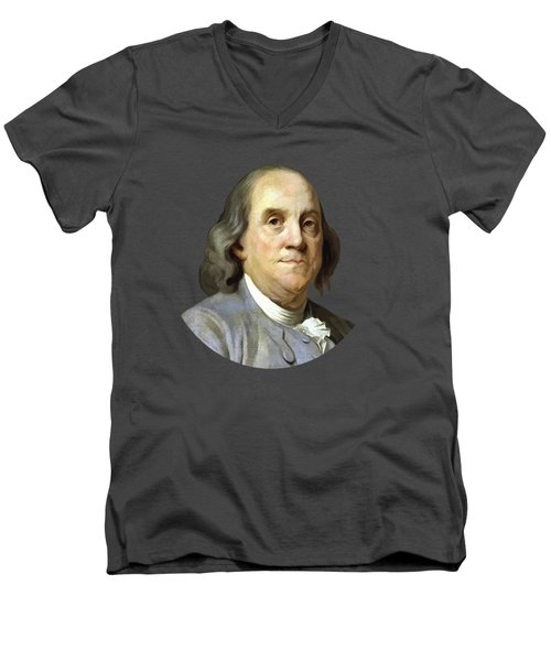 Benjamin Franklin Painting Men's V-Neck T-Shirt