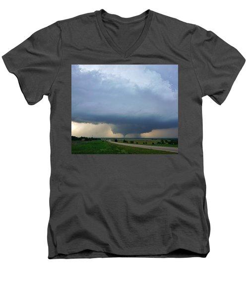 Bennington Tornado - Inception Men's V-Neck T-Shirt by Ed Sweeney