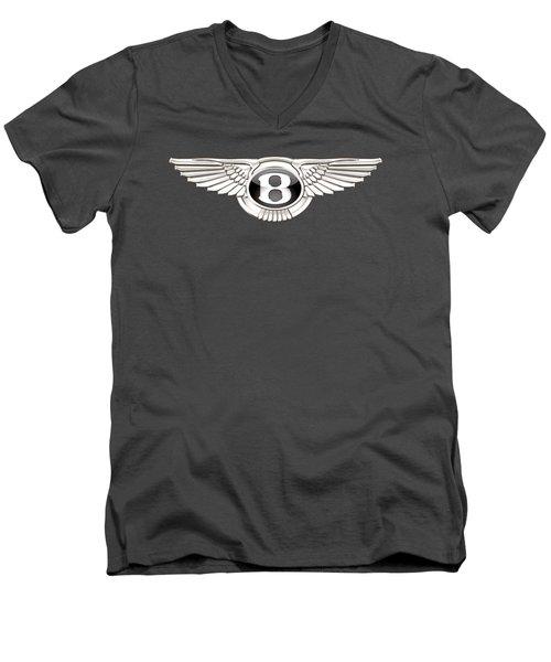 Bentley 3 D Badge On Red Men's V-Neck T-Shirt