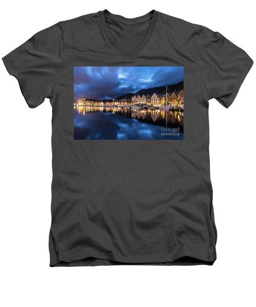 Bergen Harbor Men's V-Neck T-Shirt