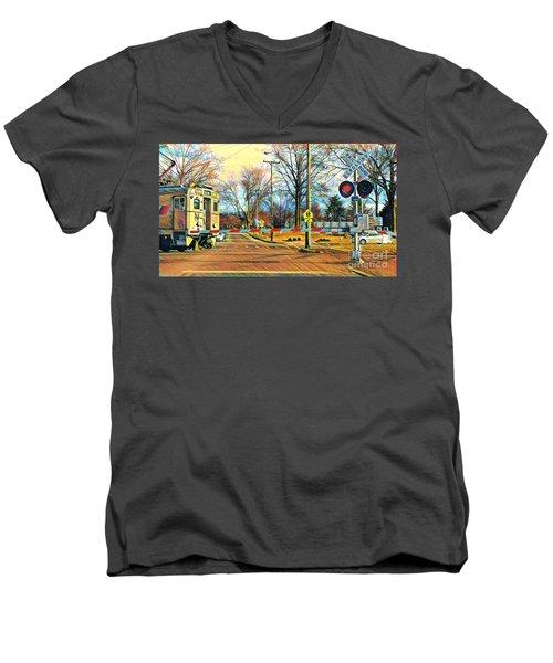 Berkeley Heights Train Men's V-Neck T-Shirt