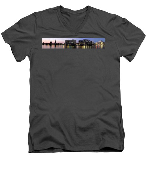 Men's V-Neck T-Shirt featuring the photograph Berlin 360 Grad  by Juergen Held