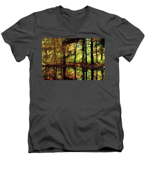 Bernharts Dam Fall 006 Men's V-Neck T-Shirt by Scott McAllister