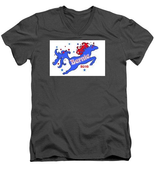 Bernie's Unicorn 2016 Men's V-Neck T-Shirt
