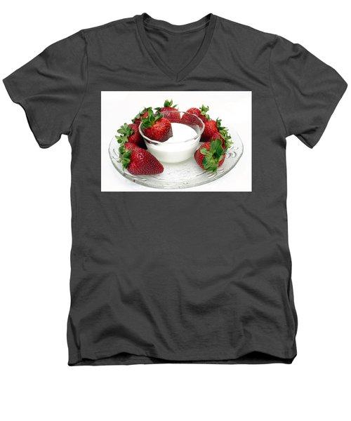 Berries And Cream Men's V-Neck T-Shirt