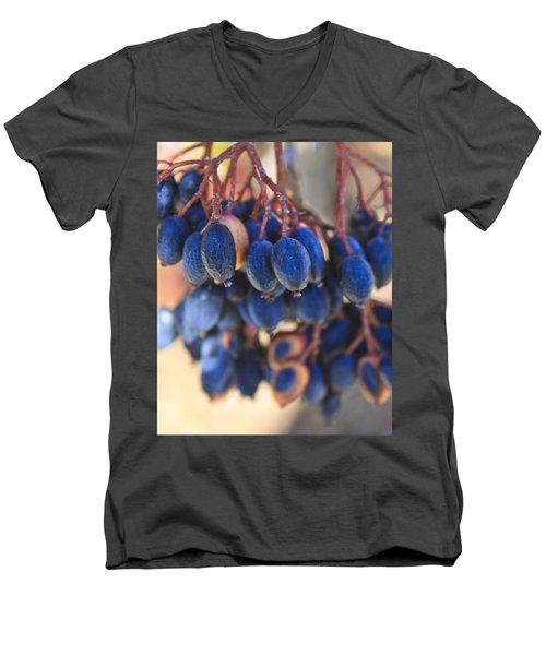 Berries Blue Too Men's V-Neck T-Shirt
