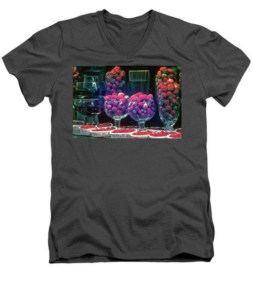 Berries In The Window Men's V-Neck T-Shirt
