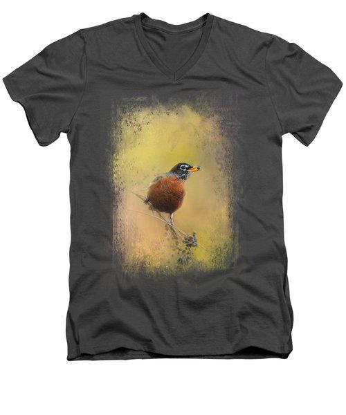 Berries In The Woods Men's V-Neck T-Shirt by Jai Johnson