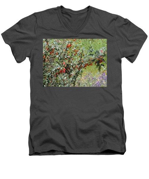 Berries On The Vine Men's V-Neck T-Shirt
