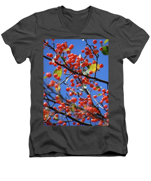 Berry Bunches Men's V-Neck T-Shirt