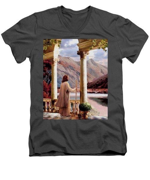 Beside Still Waters Vert Men's V-Neck T-Shirt