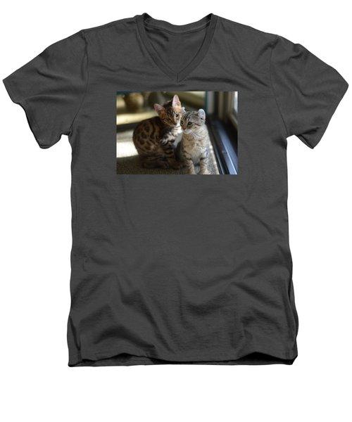 Best Buds Men's V-Neck T-Shirt
