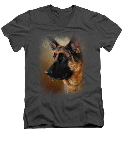 Best In Show - German Shepherd Men's V-Neck T-Shirt by Jai Johnson