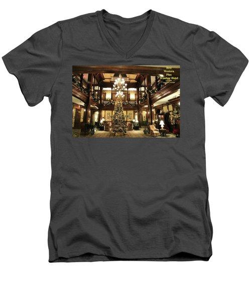 Best Western Plus Windsor Hotel Lobby - Christmas Men's V-Neck T-Shirt