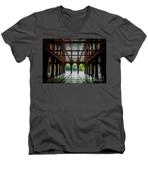 Bethesda Terrace Arcade 2 Men's V-Neck T-Shirt