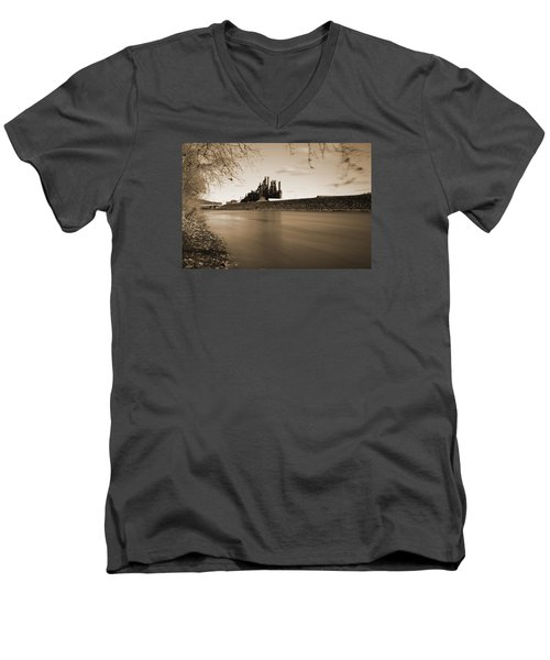 Bethlehem Steel Along The Lehigh Men's V-Neck T-Shirt