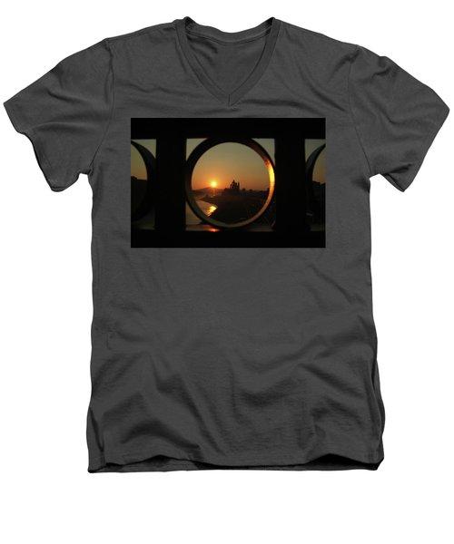Bethlehem Sunrise Framed Men's V-Neck T-Shirt