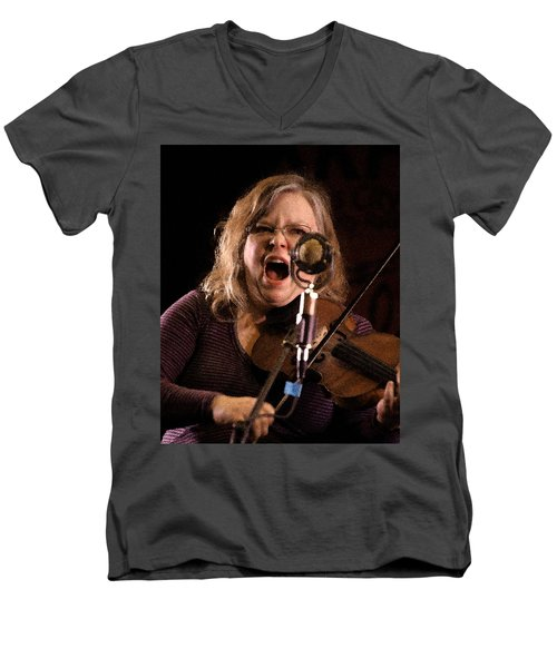 Men's V-Neck T-Shirt featuring the photograph Betse Ellis by Jim Mathis