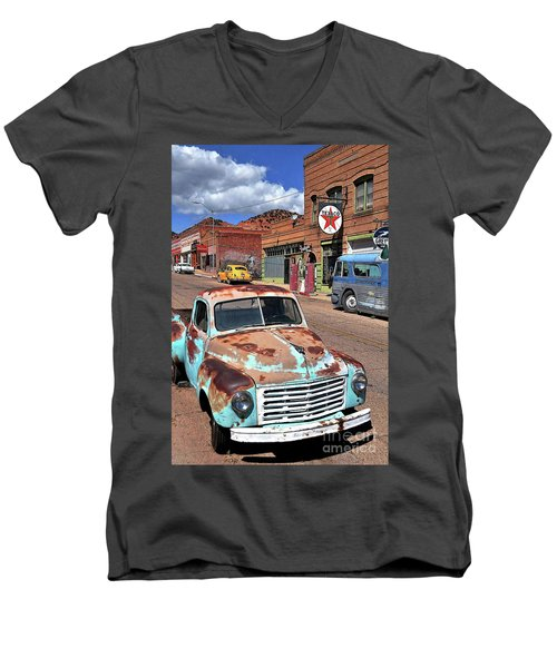 Better Days Men's V-Neck T-Shirt by Gina Savage