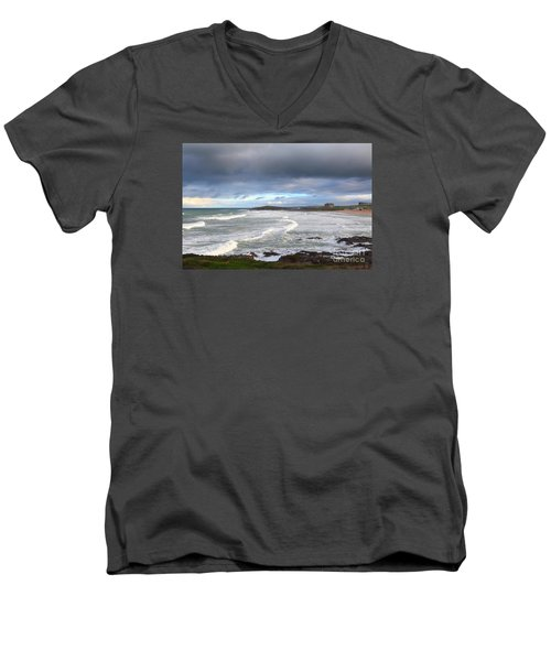 Men's V-Neck T-Shirt featuring the photograph Between Cornish Storms 1 by Nicholas Burningham