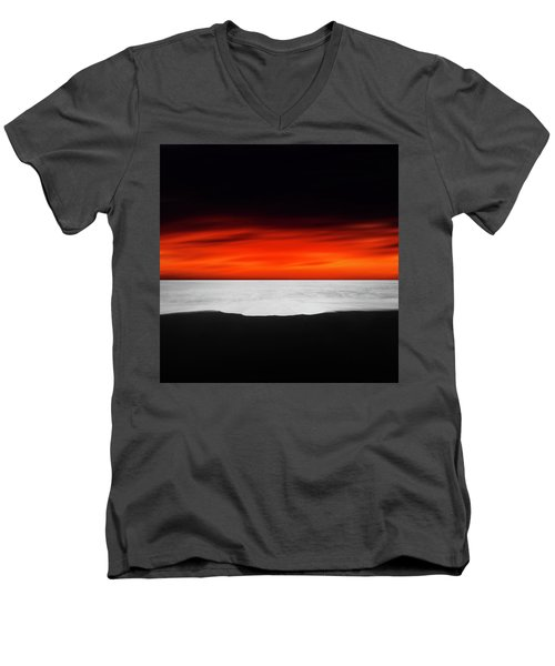 Between Red And Black Men's V-Neck T-Shirt