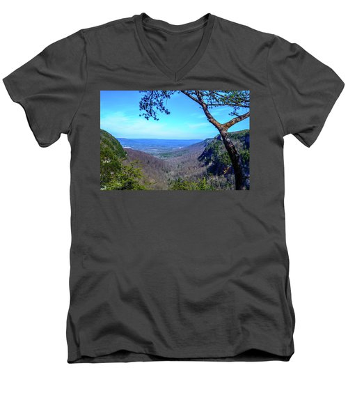 Between The Cliffs Men's V-Neck T-Shirt