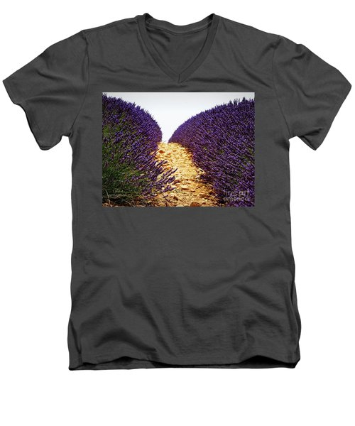Between The Purple Men's V-Neck T-Shirt