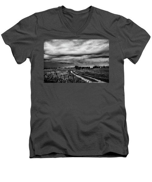 Beware The Storm Men's V-Neck T-Shirt