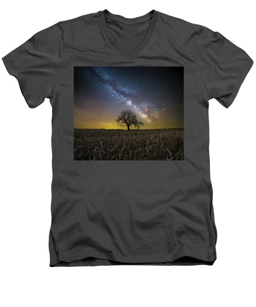 Men's V-Neck T-Shirt featuring the photograph Beyond by Aaron J Groen
