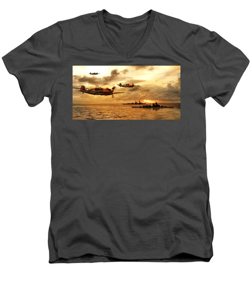 Bf 109 German Ww2 Men's V-Neck T-Shirt