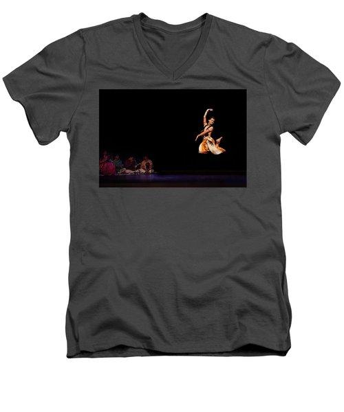 Bharatanatyam Men's V-Neck T-Shirt