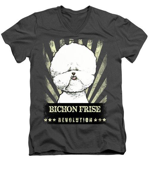 Bichon Frise Revolution Men's V-Neck T-Shirt