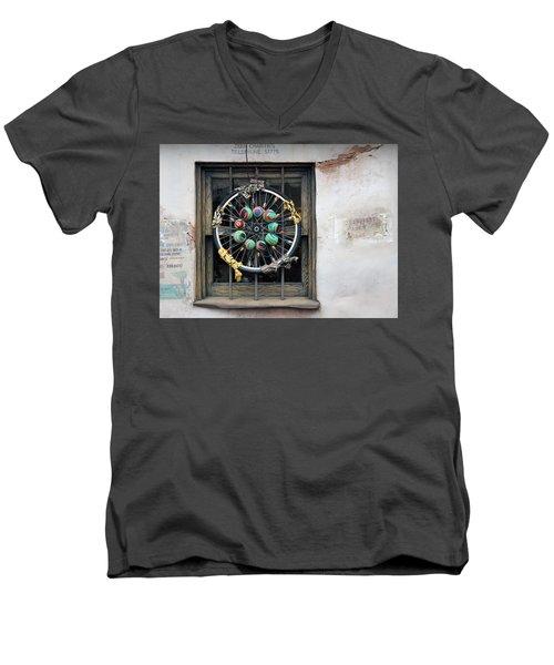 Bicycle Art Men's V-Neck T-Shirt
