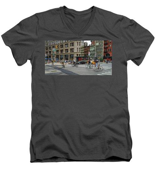 Bicycle Ballet  Men's V-Neck T-Shirt by Jeffrey Friedkin