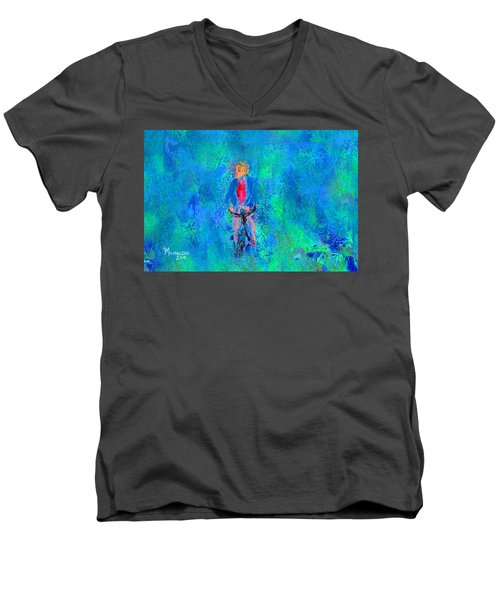 Bicycle Rider Men's V-Neck T-Shirt