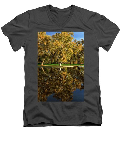 Bidwell Park Reflections Men's V-Neck T-Shirt