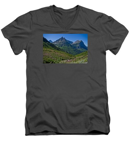 Big Bend, Glacier National Park Men's V-Neck T-Shirt